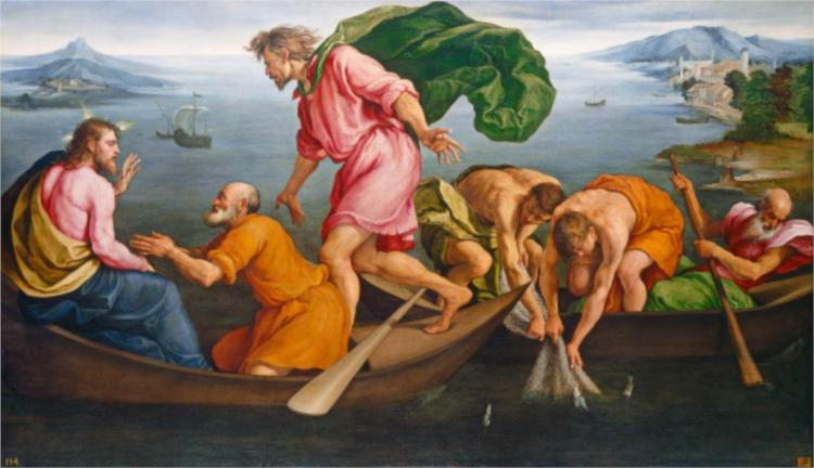 The Miraculous Draught of Fishes - Jacopo Bassano