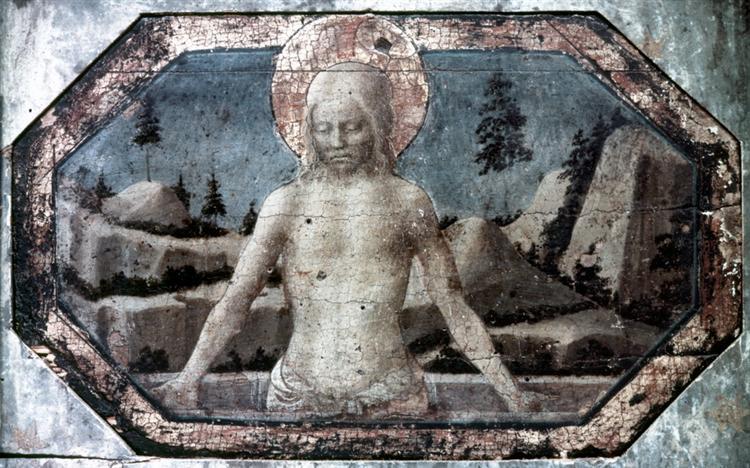 Christ in the grave - Jacopo Bellini