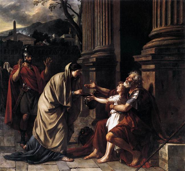 Belisarius Begging for Alms, 1781 - Jacques-Louis David