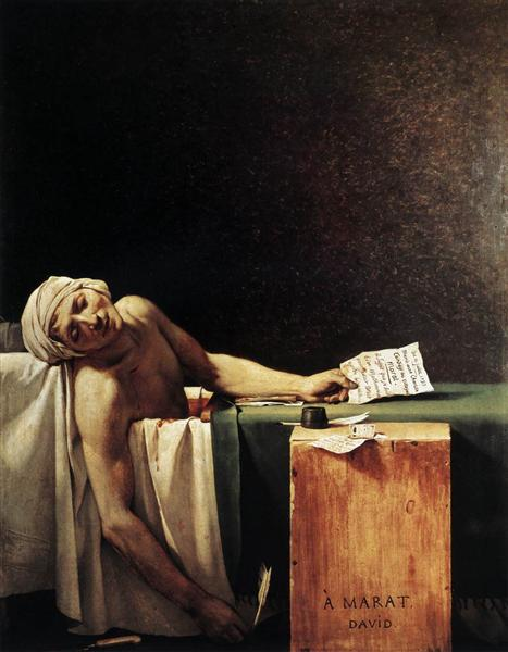 The Death of Marat, 1793 - Jacques-Louis David
