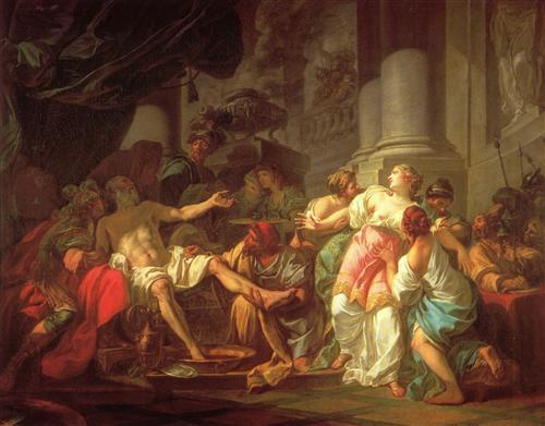 The Death of Seneca - Jacques-Louis David