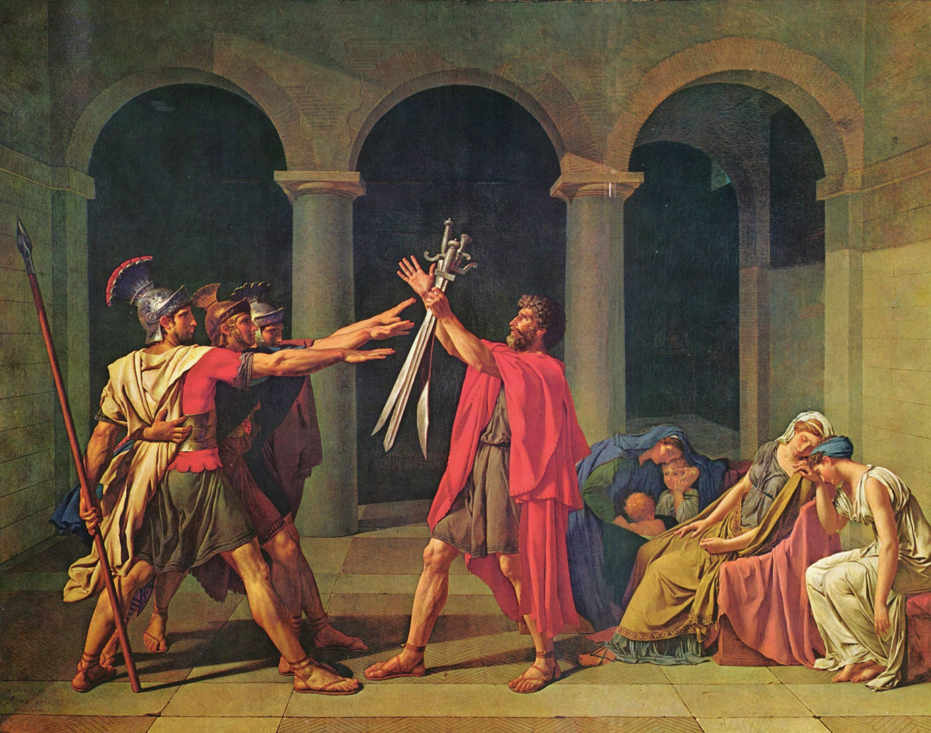 The Oath of Horatii, 1784 - Jacques-Louis David - WikiArt.org Oath Of The Horatii