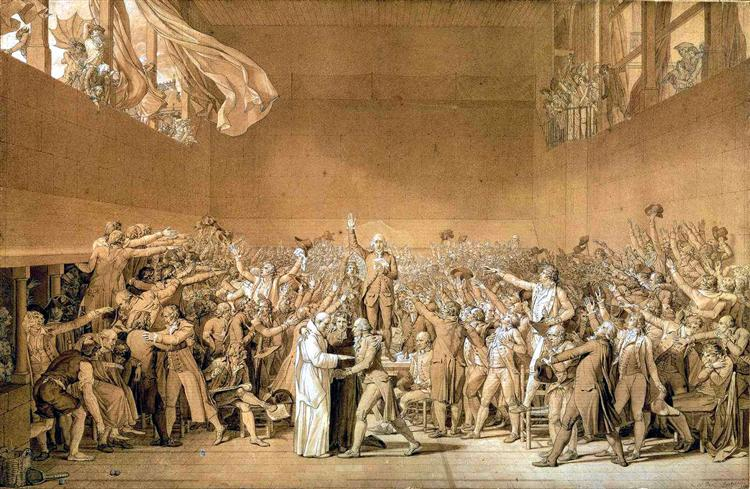 The Tennis Court Oath, 20th June 1789, 1791 - Jacques-Louis David