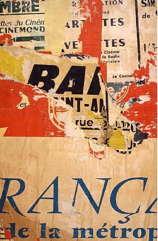 Les Métropolitains - December 1960, 1960 - Jacques Villeglé