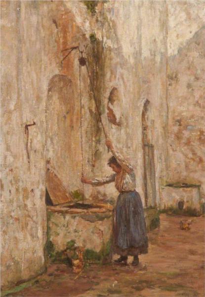 At the Well, Anacapri - James Charles