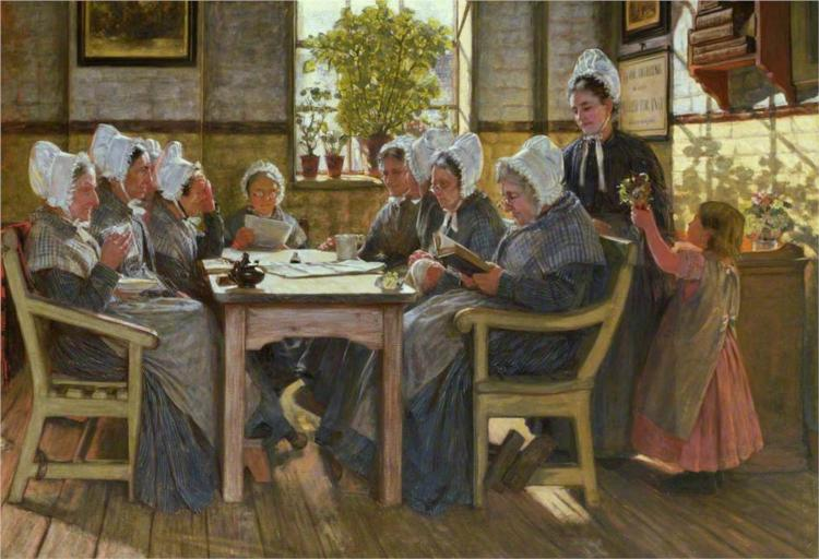 Chelsea Workhouse: A Bible Reading (Our Poor), 1877 - James Charles