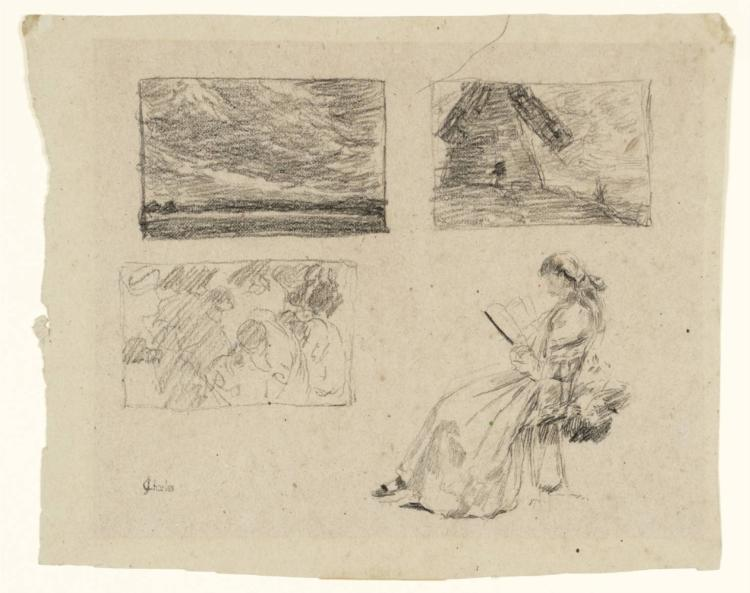 Studies of Landscapes and Figures, 1902 - James Charles