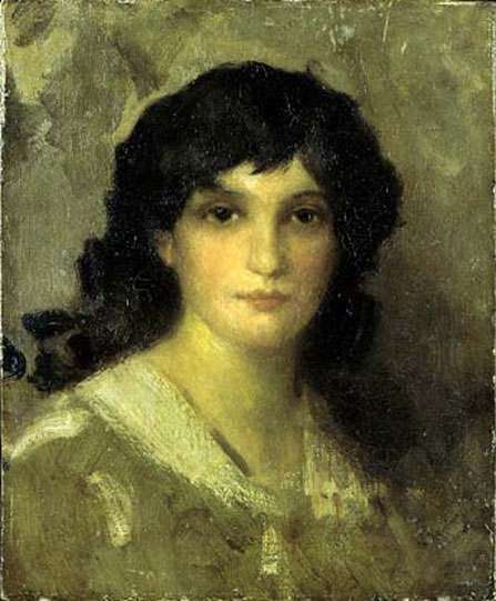 Head of a Young Woman, c.1890 - James McNeill Whistler