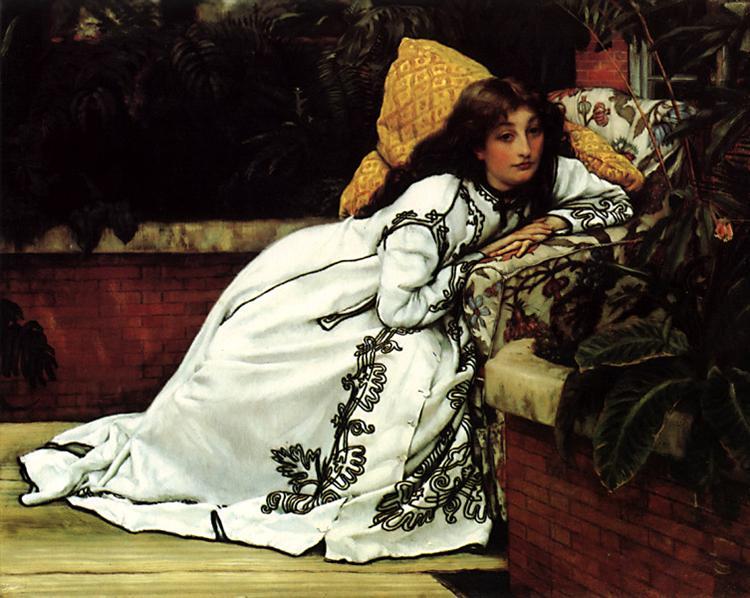 A Girl in an Armchair, 1872 - James Tissot