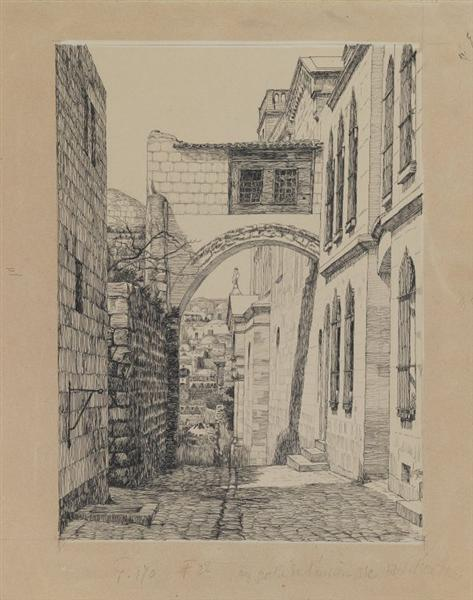 A Part of the Ancient Arch Called Ecce Homo, 1886 - 1889 - James Tissot