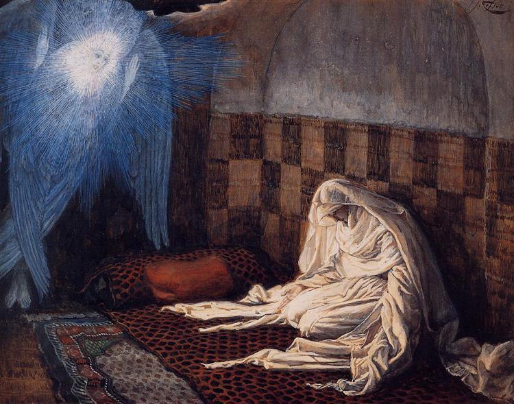 Annunciation, c.1886 - c.1896 - James Tissot