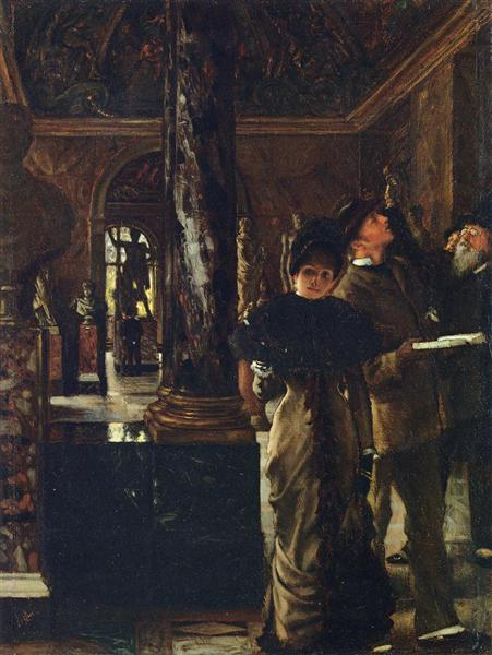 Foreign Visitors at the Louvre, c.1880 - James Tissot