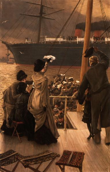 Goodbye, on the Mersey, c.1881 - James Tissot