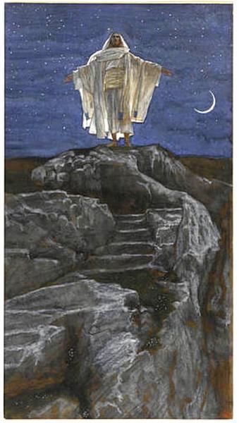 Jesus Goes Up Alone onto a Mountain to Pray, 1886 - 1894 - James Tissot