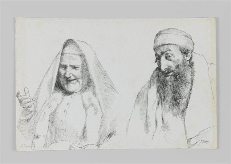 Jew and Jewess, illustration from 'The Life of Our Lord Jesus Christ' - James Tissot