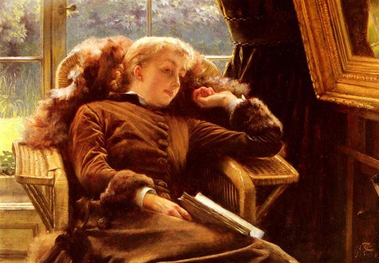 Kathleen Newton in an Armchair, 1878 - James Tissot