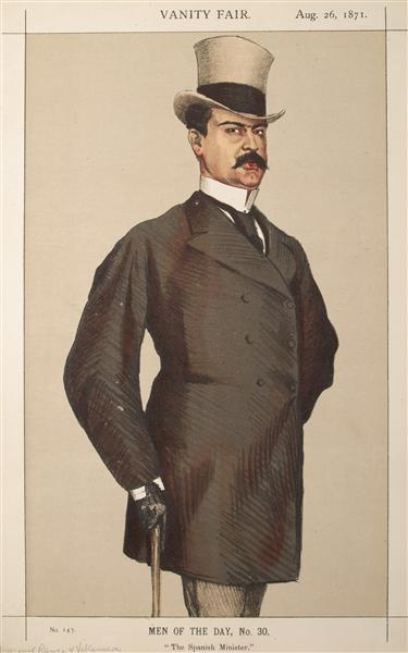 Men or Women of the Day No.300 Caricature of Don Manuel Rances-y-Villanueva - James Tissot