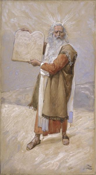 Moses and the Ten Commandments, c.1896 - c.1902 - James Tissot