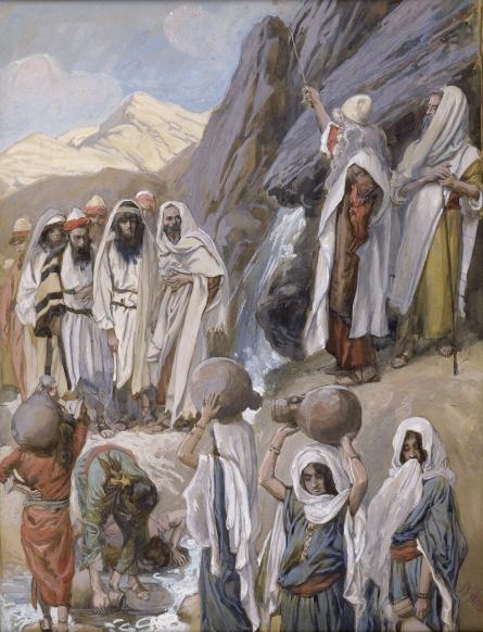 Moses Strikes the Rock, c.1896 - c.1902 - James Tissot