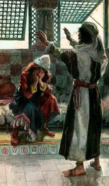 Nathan Rebukes David, as in 2 Samuel 120 - James Tissot