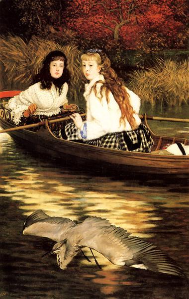 On the Thames, a Heron, 1871 - James Tissot