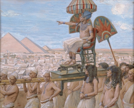 Pharaoh Notes the Importance of the Jewish People - James Tissot