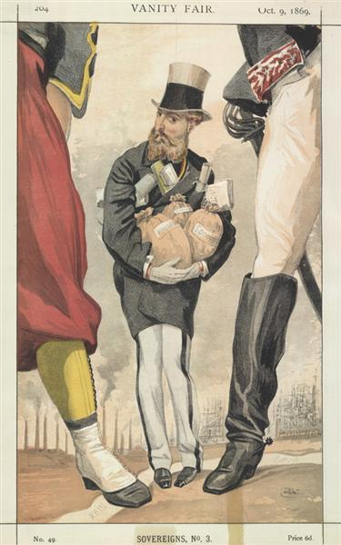 Sovereigns No.30 Caricature of Leopold II of the Belgians - James Tissot