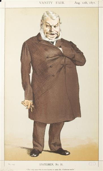 Statesmen No.910 Caricature of Mr John Locke M.P. - Джеймс Тіссо