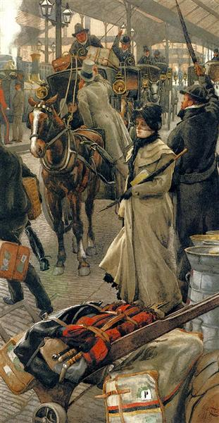 The Departure Platform, Victoria Station, c.1880 - James Tissot