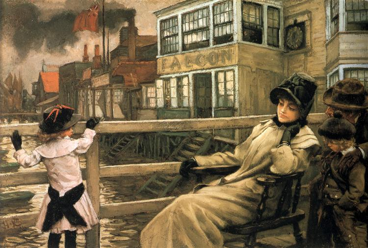 Waiting for the Ferry, c.1878 - James Tissot