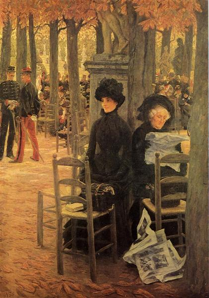 Without A Dowry, aka Sunday In the Luxembourg Gardens, 1883 - 1885 - James Tissot