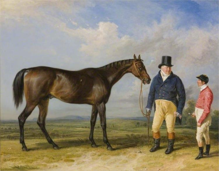 'Rockingham', with His Owner, John Theobald, and Jockey, Jem Robinson, 1835 - James Ward