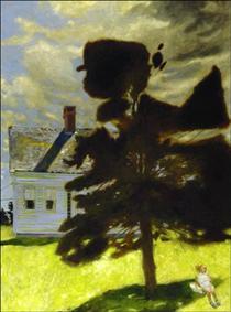 Julia on the Swing - Jamie Wyeth