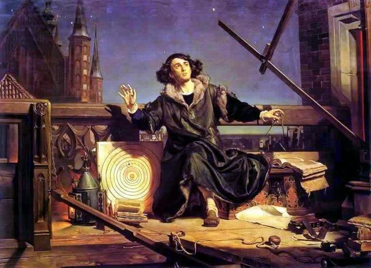Copernicus in the tower at Frombork, 1872 - Jan Matejko