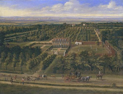 View of a House and its Estate in Belsize, Middlesex - Jan Siberechts