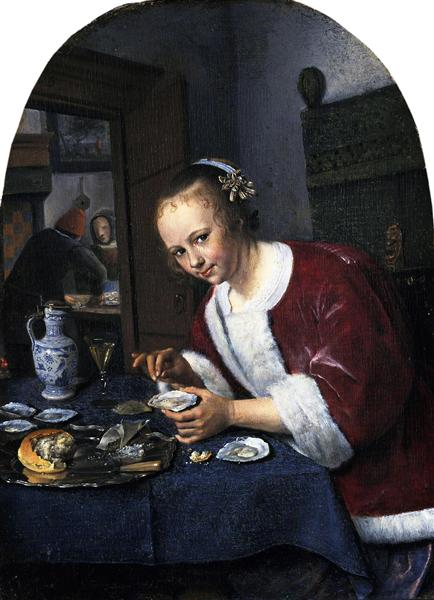Girl eating oysters, 1658 - 1660 - Jan Steen