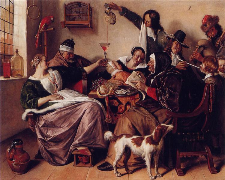 The way you hear it, c.1663 - 1665 - Jan Steen