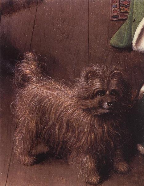 Giovanni Arnolfini And His Wife Giovanna Cenami The Marriage Detail Jan Van Eyck