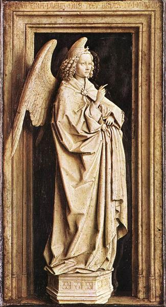 the annunciation jan van eyck wikiartorg