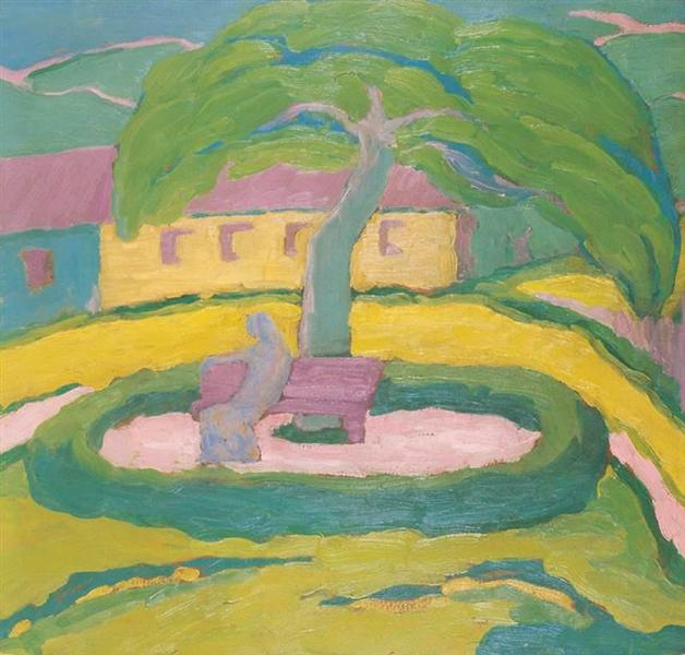 Houses with Trees, 1910 - Janos Mattis-Teutsch