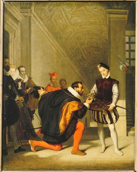 Don Pedro of Toledo Kissing the Sword of Henri IV, 1831 - Jean Auguste Dominique Ingres