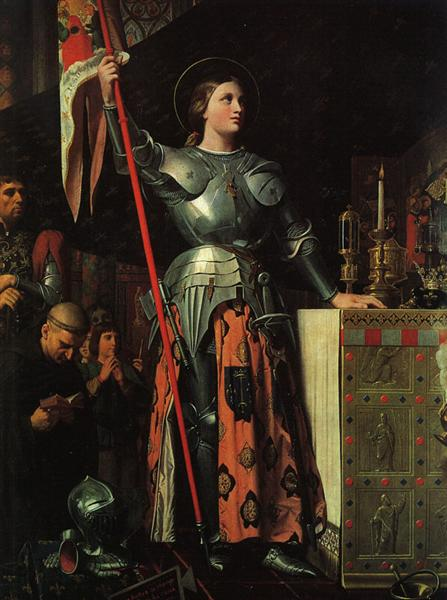 Joan of Arc on Corronation of Charles VII in the Cathedral of Reims, 1854 - Jean Auguste Dominique Ingres