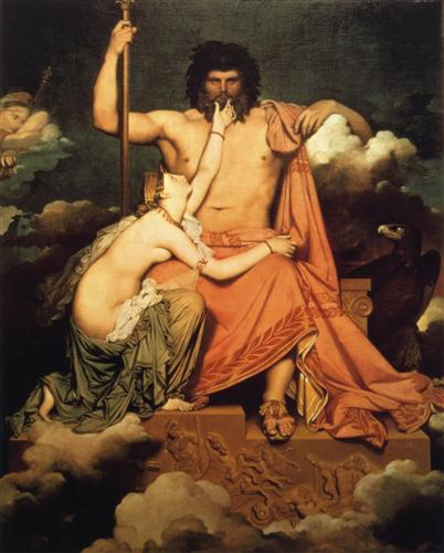 Jupiter and Thetis - Jean Auguste Dominique Ingres