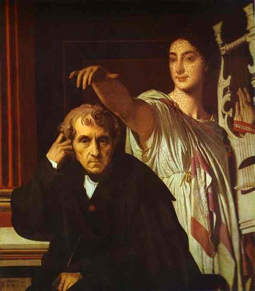Luigi Cherubini and the Muse of Lyric Poetry, 1842 - Jean Auguste Dominique Ingres