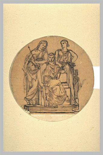Project medal at the Ecole des Beaux-Arts - Jean Auguste Dominique Ingres