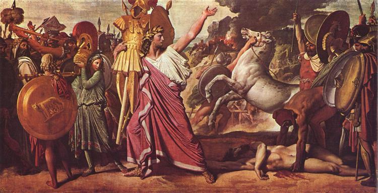 Romulus' Victory over Acron, 1812 - Jean Auguste Dominique Ingres