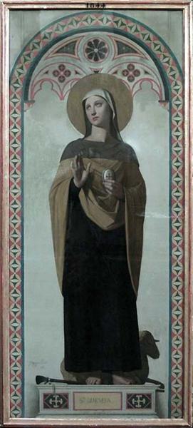 St. Genevieve, patroness of Paris, 1844 - Jean Auguste Dominique Ingres
