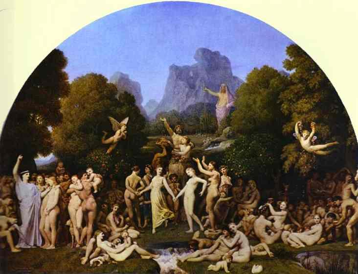 The Golden Age, 1862 - Jean Auguste Dominique Ingres