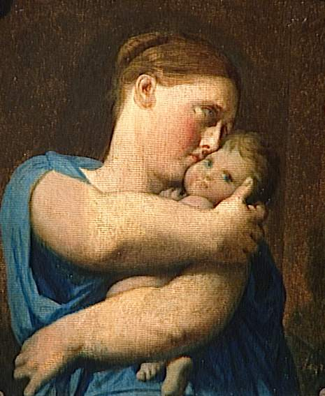 Woman and Child. Study for the Martyrdom of Saint Symphorien - Jean Auguste Dominique Ingres