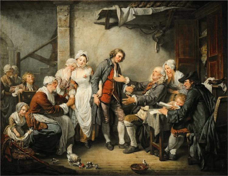 The Village Bride, 1761 - Jean-Baptiste Greuze